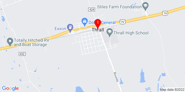 Google Map of Thrall, TX