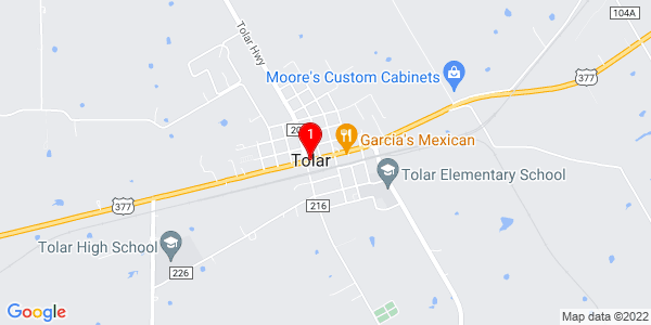 Google Map of Tolar, TX
