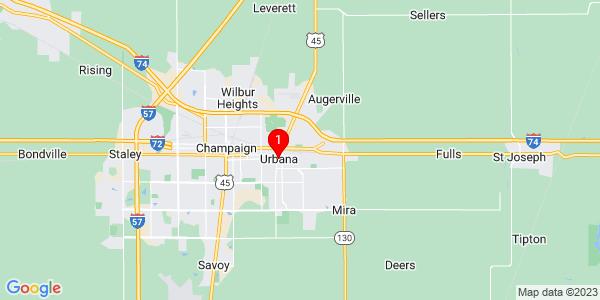 Google Map of Urbana, IL
