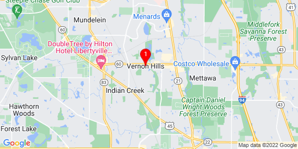 Google Map of Vernon Hills, IL