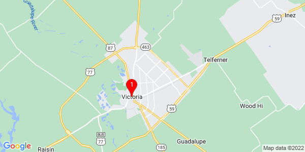 Google Map of Victoria, TX