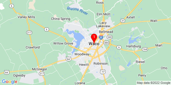 Google Map of Waco, TX