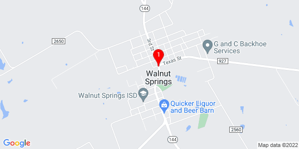 Google Map of Walnut Springs, TX