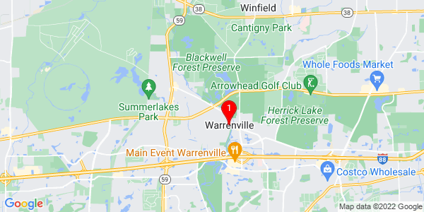Google Map of Warrenville, IL