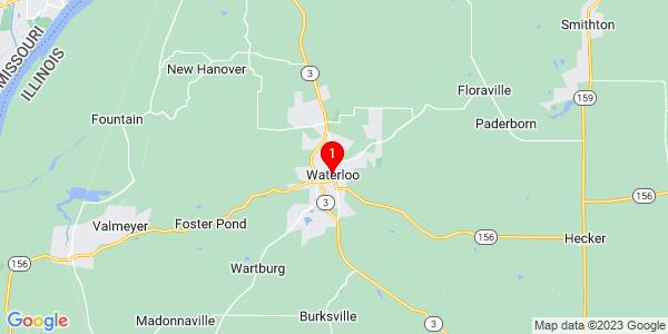 Google Map of Waterloo, IL