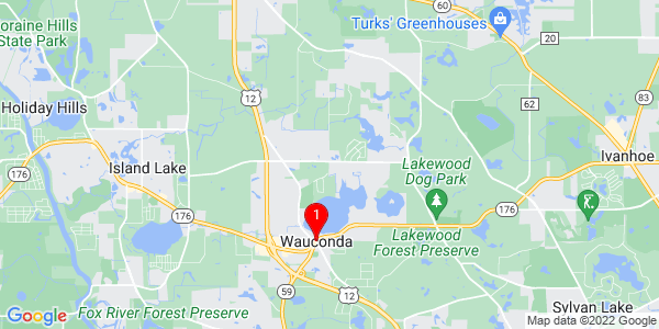 Google Map of Wauconda, IL
