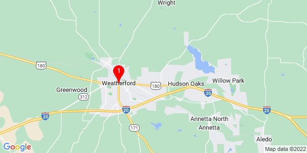 Google Map of Weatherford, TX