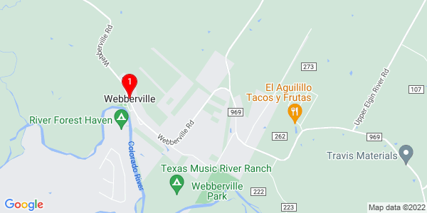 Google Map of Webberville, TX