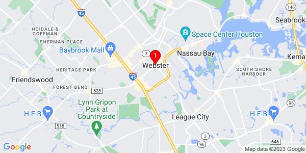 Google Map of Webster, TX