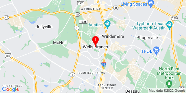 Google Map of Wells Branch, TX