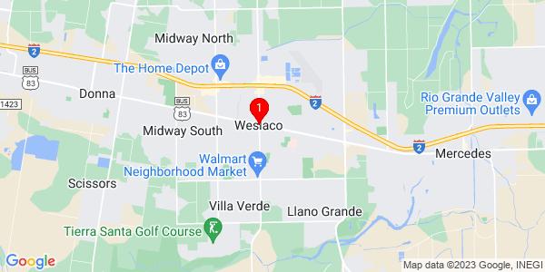 Google Map of Weslaco, TX
