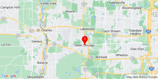 Google Map of West Chicago, IL