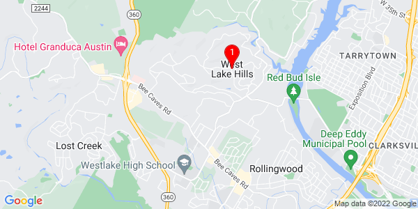 Google Map of West Lake Hills, TX