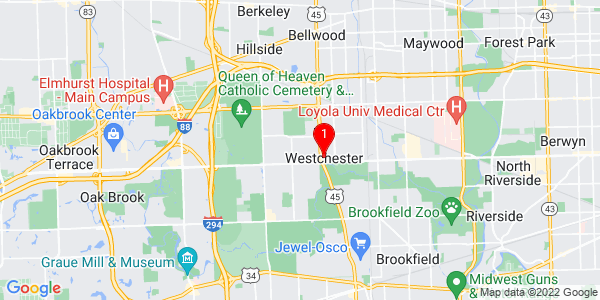 Google Map of Westchester, IL