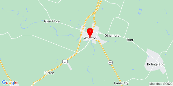 Google Map of Wharton, TX