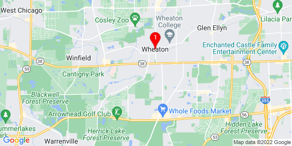 Google Map of Wheaton, IL