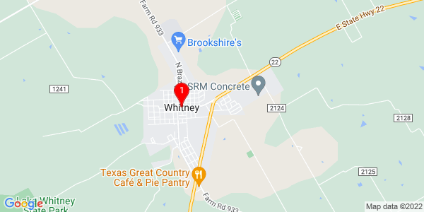 Google Map of Whitney, TX