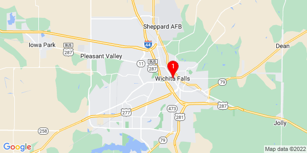 Google Map of Wichita Falls, TX