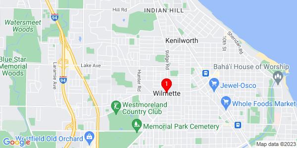 Google Map of Wilmette, IL