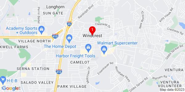 Google Map of Windcrest, TX