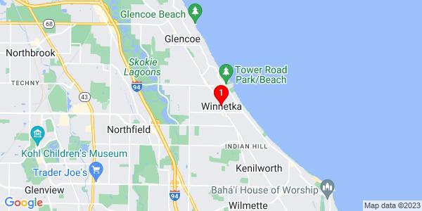Google Map of Winnetka, IL