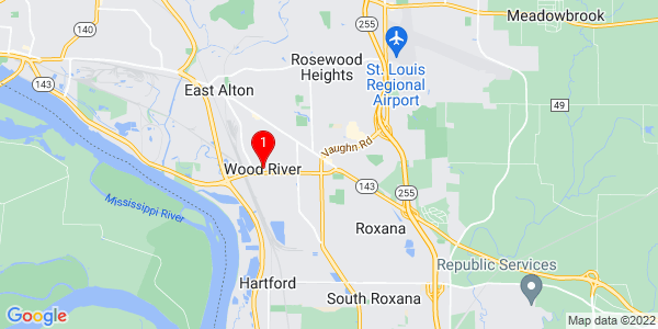 Google Map of Wood River, IL