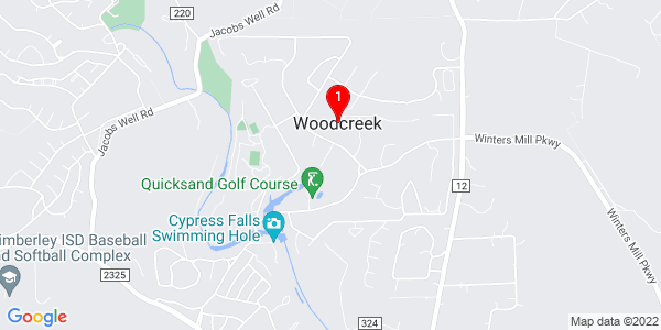 Google Map of Woodcreek, TX