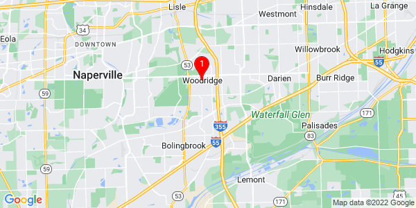 Google Map of Woodridge, IL