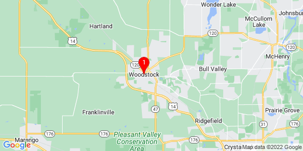 Google Map of Woodstock, IL