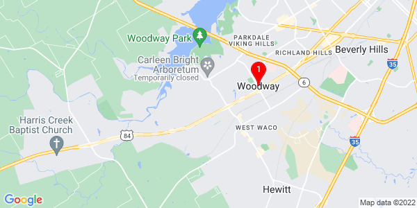 Google Map of Woodway, TX