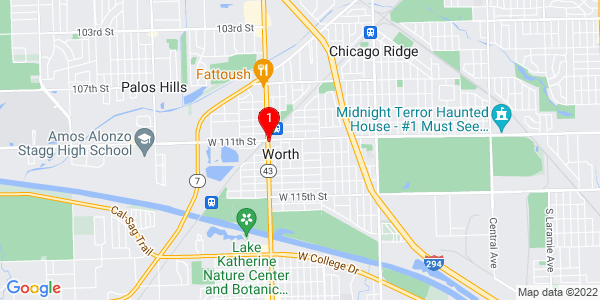 Google Map of Worth, IL