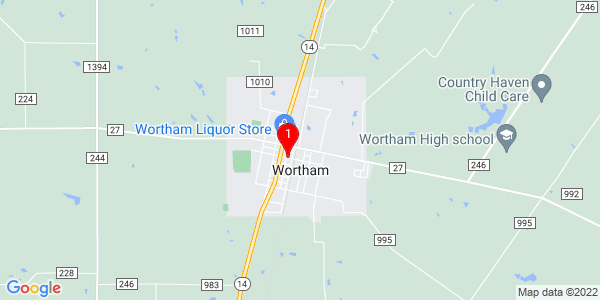 Google Map of Wortham, TX