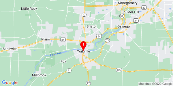 Google Map of Yorkville, IL