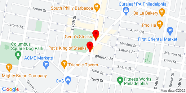 Google Map of philadelphia