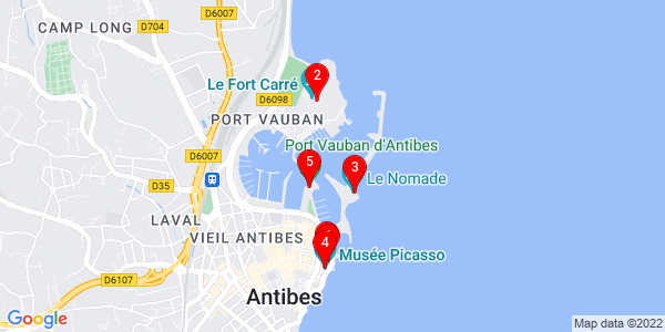 Google Map of Antibes