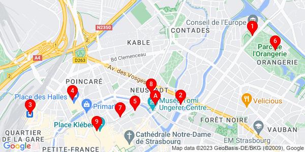 Google Map of Strasbourg