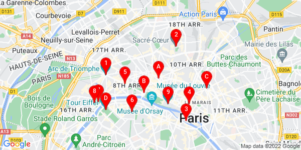 Google Map of Paris