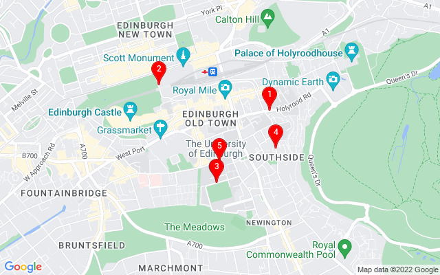 Google Map of edinburgh