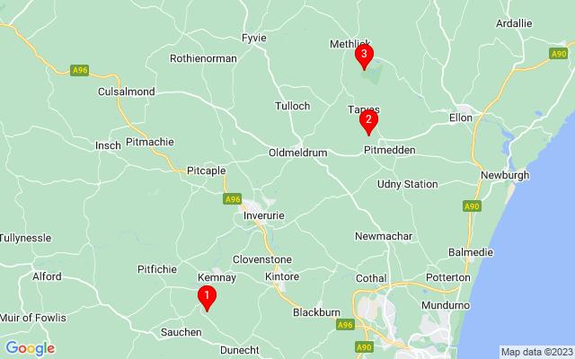 Google Map of castle fraser
