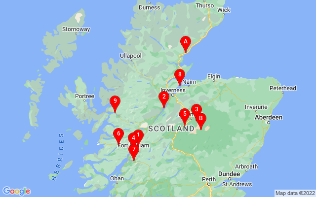 Google Map of scotland