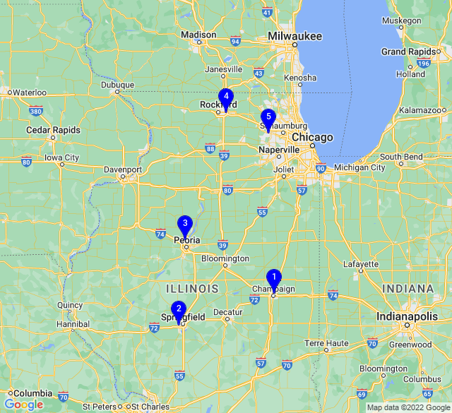 Google Map of Serv-U Illinois Locations