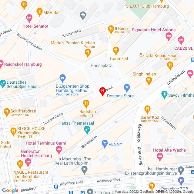 Google Map of Deutschland,Hamburg,Hansaplatz 3