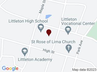 Google Map of Hugh Gallen Career Center, 140 high Street, Littleton NH, 03561