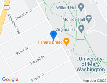 Google Map of <p>Rev. Christopher T. Vaccaro</p><p>University of Mary Washington <br />Catholic Campus Ministry<br />1614 College Avenue<br />Fredericksburg, VA 22401</p>