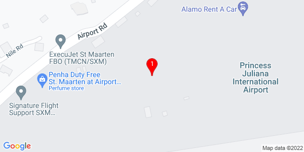 Google Map of St. Maarten (Prinses Juliana International Airport)
