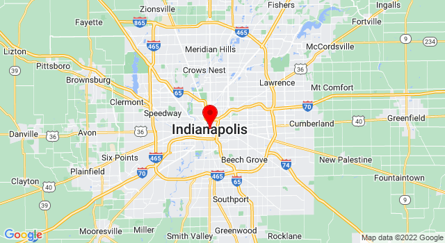 Google Map of  Indianapolis IN