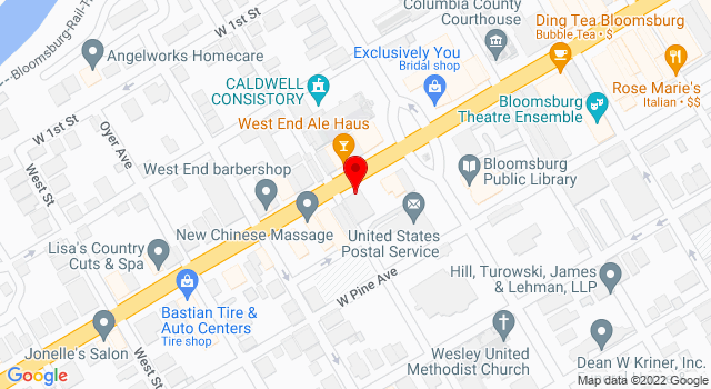 Google Map of 120 West Main Street Bloomsburg PA