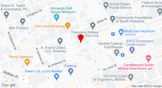 Google Map of 205 N Conception St Mobile AL