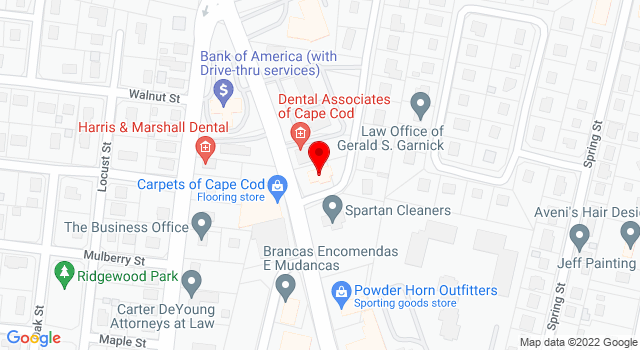 Google Map of 250 Barnstable Rd Hyannis MA