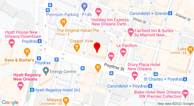 Google Map of 909 Poydras St Suite 2025 New Orleans LA